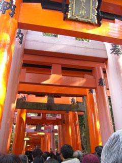 Fushimi shrine on New Year's Day