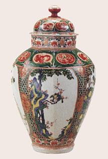 Arita porcelain jar