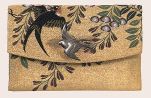 embroidered Japanese purse