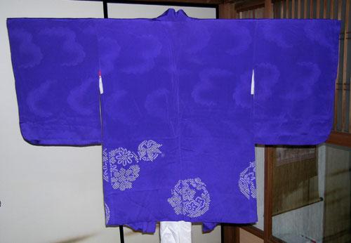 blue haori kimono