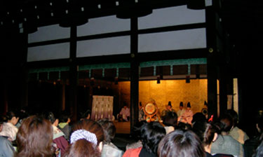 Gagaku performance at Shimogamo