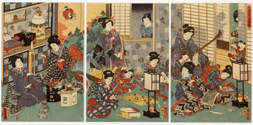 Japanese woodblock picture