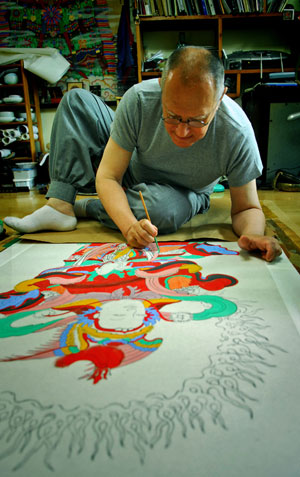 Brian Barry, Buddhist painter