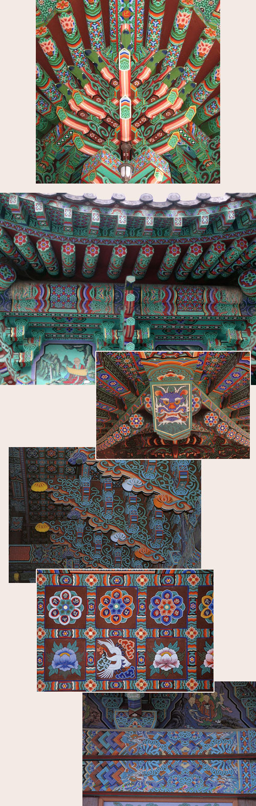 Korean painted temples