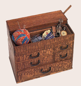 Japanese sewing box