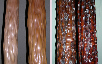 polished Kitayama cedar logs