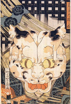 Tale of the Cat Monster by Utagawa Yoshifuji