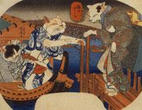 Cat's Enjoying the Cool of Evening by Utagawa Kuniyoshi