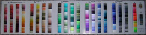 Fuji thread color chart